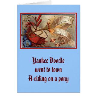 July 4th vintage yankee doodle greeting card