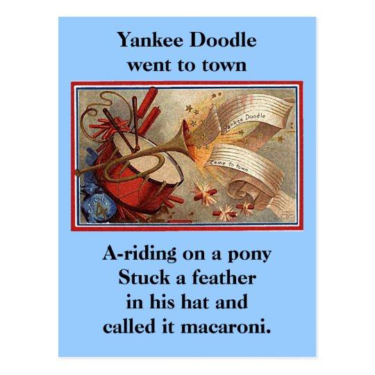 July 4th vintage yankee doodle postcard