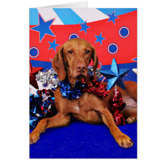 July 4th - Vizsla - Reagan Card