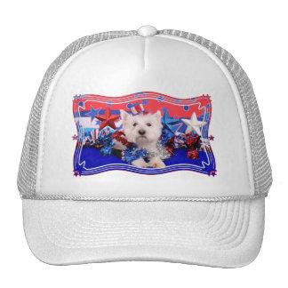 July 4th - Westie - Polo Mesh Hats