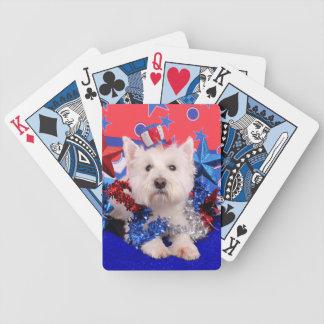 July 4th - Westie - Polo Card Decks
