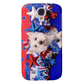 July 4th - Westie - Polo Samsung Galaxy S4 Cover