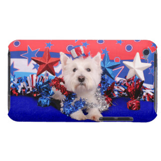 July 4th - Westie - Polo iPod Touch Cases
