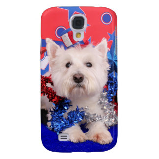 July 4th - Westie - Polo Samsung Galaxy S4 Covers