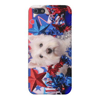 July 4th - Westie - Polo Cover For iPhone 5