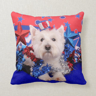 July 4th - Westie - Polo Pillows