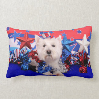 July 4th - Westie - Polo Pillow