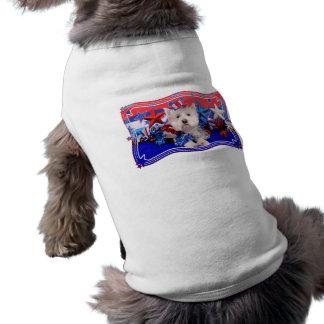 July 4th - Westie - Polo Doggie Tshirt