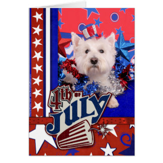 July 4th - Westie - Polo Greeting Card