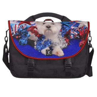 July 4th - Westie - Polo Laptop Bags
