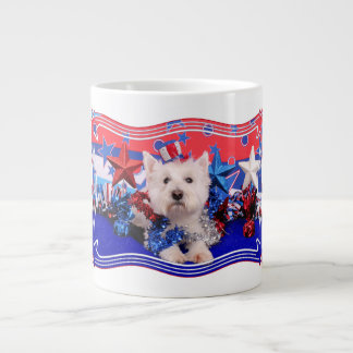July 4th - Westie - Polo Jumbo Mug