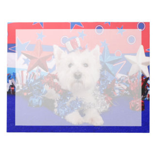 July 4th - Westie - Polo Memo Notepads