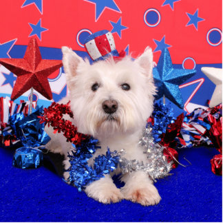 July 4th - Westie - Polo Cut Out