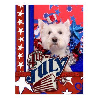 July 4th - Westie - Polo Postcards