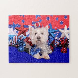 July 4th - Westie - Polo Jigsaw Puzzle