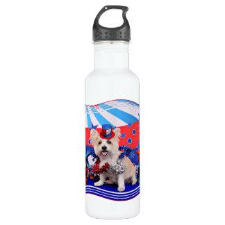July 4th - Westie X - Lady 710 Ml Water Bottle