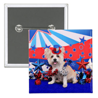 July 4th - Westie X - Lady Pinback Buttons