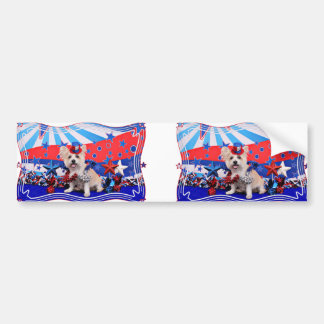 July 4th - Westie X - Lady Bumper Stickers