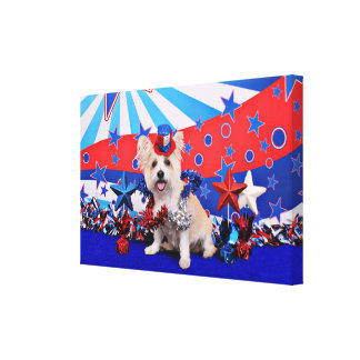 July 4th - Westie X - Lady Gallery Wrapped Canvas