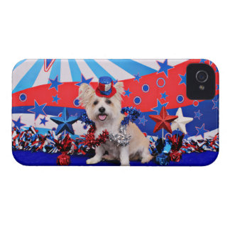 July 4th - Westie X - Lady iPhone 4 Cases