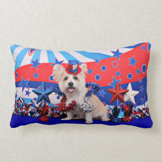July 4th - Westie X - Lady Throw Pillows