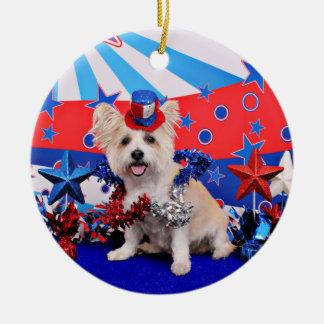 July 4th - Westie X - Lady Ornament