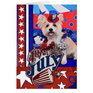 July 4th - Westie X - Lady Greeting Card