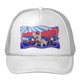 July 4th - Westie X - Lady Mesh Hats