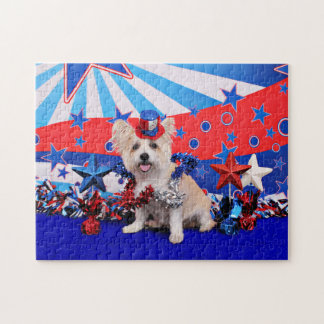 July 4th - Westie X - Lady Jigsaw Puzzle