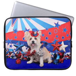July 4th - Westie X - Lady Laptop Computer Sleeves