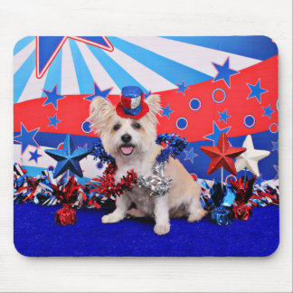 July 4th - Westie X - Lady Mouse Pad