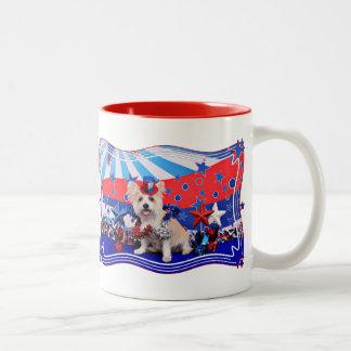 July 4th - Westie X - Lady Coffee Mug