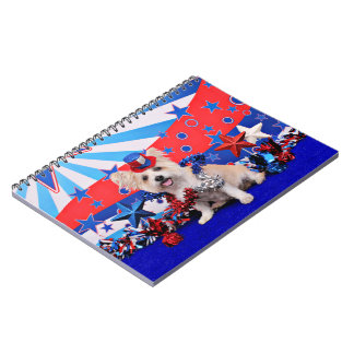 July 4th - Westie X - Lady Spiral Notebooks