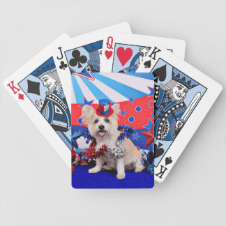 July 4th - Westie X - Lady Poker Cards