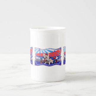 July 4th - Westie X - Lady Porcelain Mug