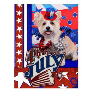 July 4th - Westie X - Lady Post Card