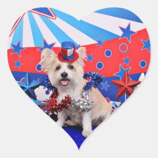 July 4th - Westie X - Lady Sticker