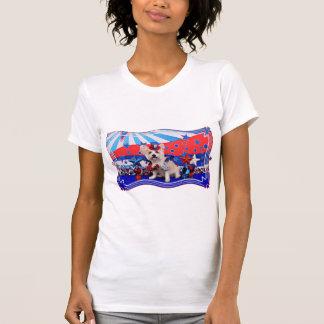 July 4th - Westie X - Lady T Shirts