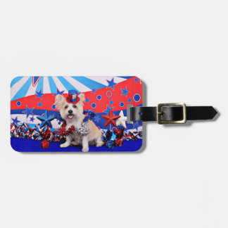 July 4th - Westie X - Lady Tag For Bags