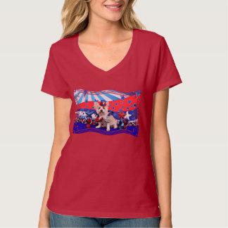 July 4th - Westie X - Lady Tshirts