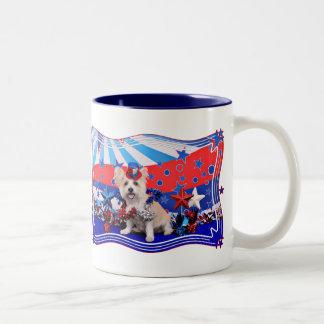July 4th - Westie X - Lady Two-Tone Mug