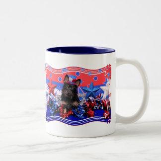 July 4th - Yorkie - Stella Coffee Mugs