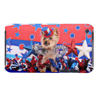 July 4th - Yorkie - Vinnie Barely There iPod Case