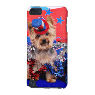 July 4th - Yorkie - Vinnie iPod Touch 5G Cases