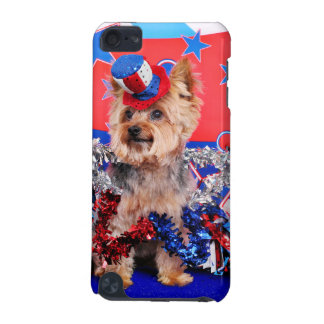 July 4th - Yorkie - Vinnie iPod Touch (5th Generation) Case