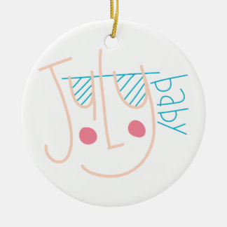 July Baby Christmas Ornament