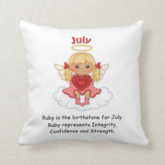 July Birthstone Angel Blonde Throw Cushions