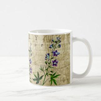 July Botanical Coffee Mug