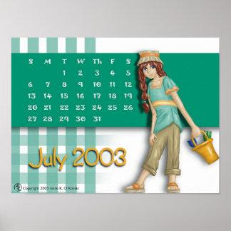 July Calendar 2003 Poster