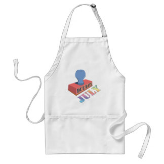 July Due Date Stamp Apron